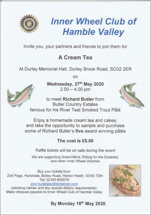 Hamble Valley Cream Tea and Trout
