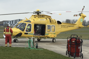 We support our local Air Ambulance.